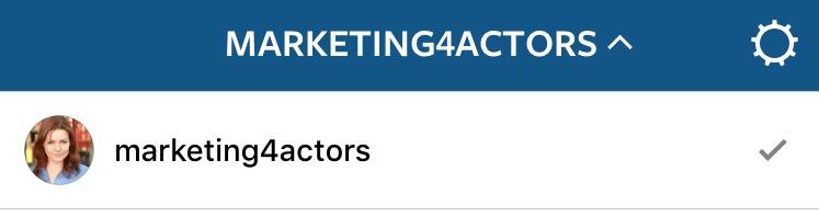 switch between Instagram accounts
