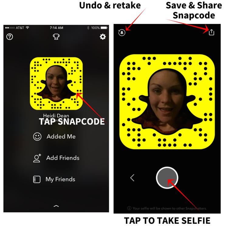 take a snapchat selfie