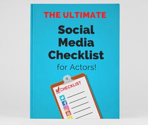 Social Media for Actors Checklist