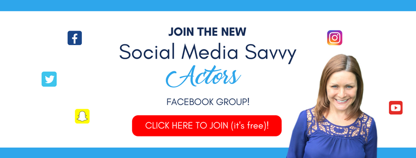 Social Media Savvy Actors Facebook Group