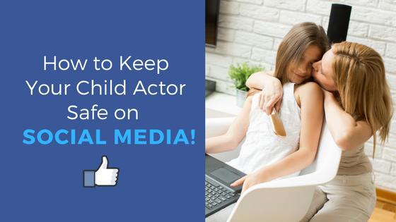 child actor social media