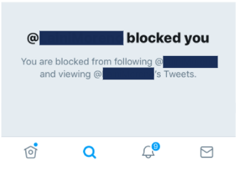 don't block people