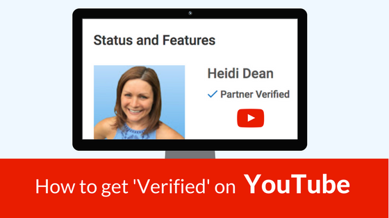 how to get verified on youtube for actors