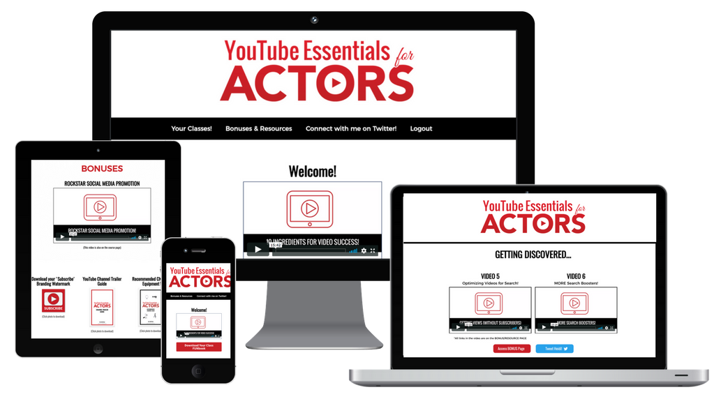Youtube for actors essentials